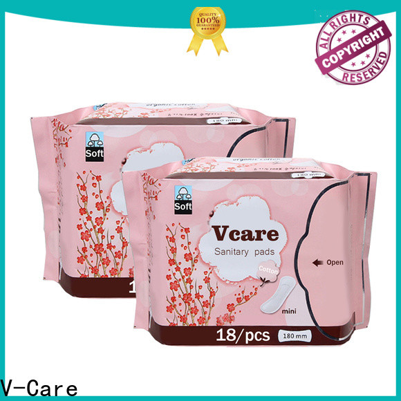 V-Care ultra thin low price sanitary pads company for ladies
