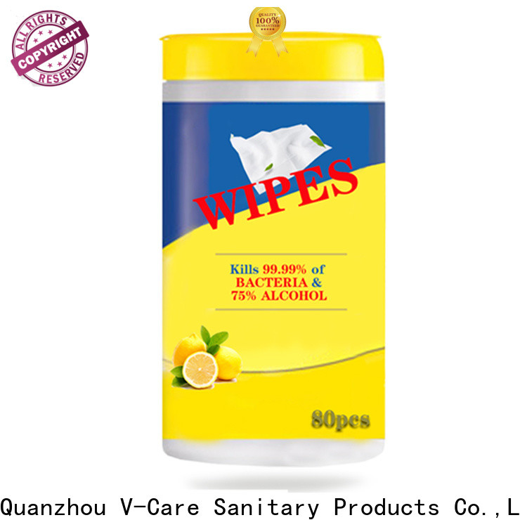 V-Care alcohol free wet tissue wipes company for adult
