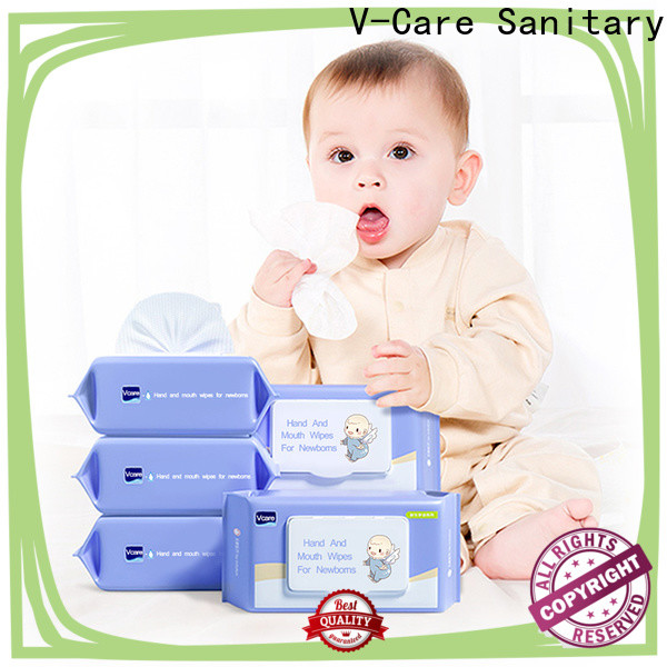 V-Care high-quality cleaning wet wipes supply for women
