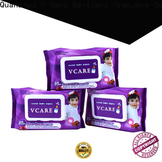 V-Care water wet wipes factory for adult