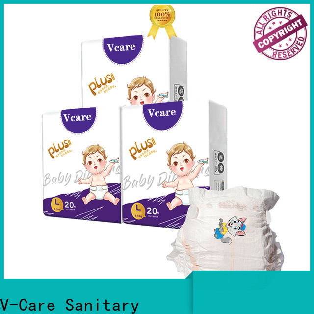 V-Care breathable cheap infant diapers manufacturers for sleeping