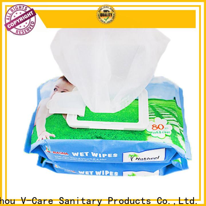 V-Care custom wet wipes company for women