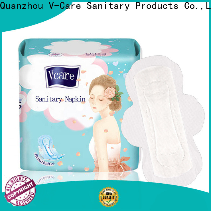 V-Care ultra thin good sanitary pads factory for ladies