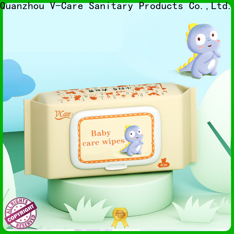 V-Care wholesale wet tissue wipes supply for baby