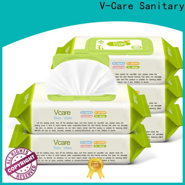 V-Care custom wet wipes supply for women