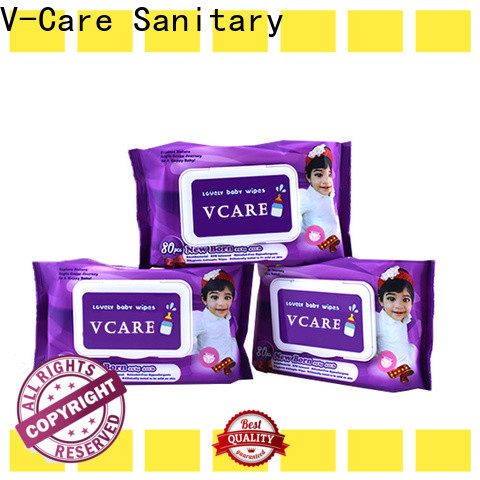 V-Care oem wet tissue wipes company for adult