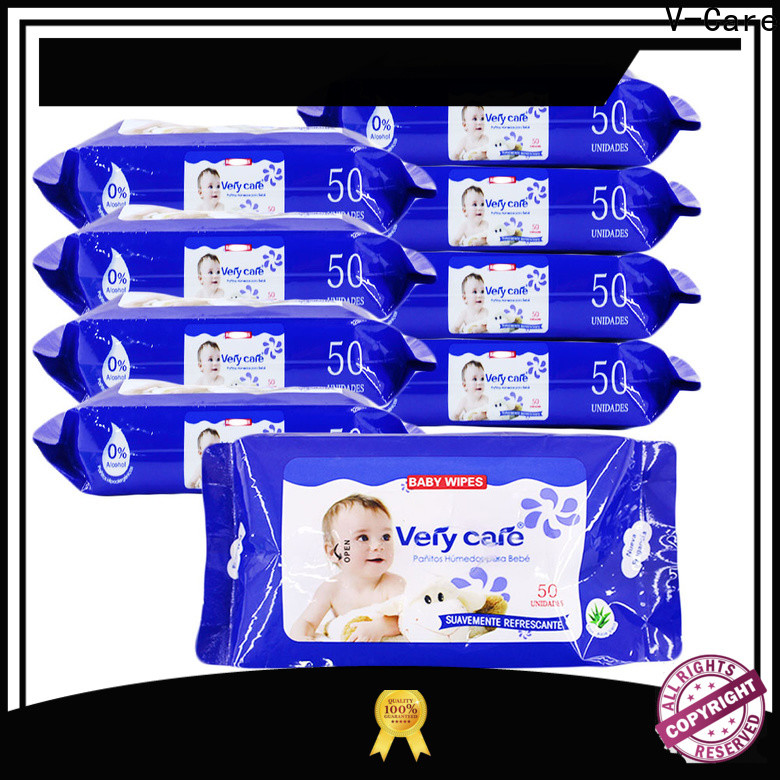 V-Care custom wet wipes company for adult