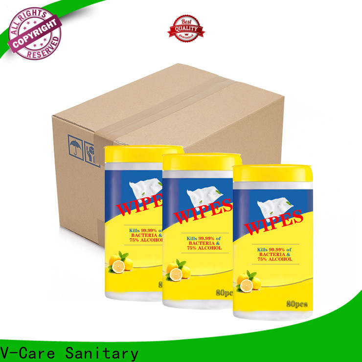 V-Care alcohol free wipe tissue suppliers for women