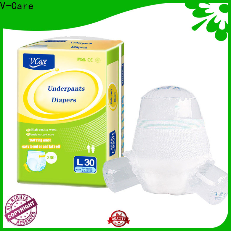 V-Care adult pull up diapers factory for sale