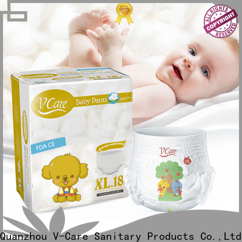 V-Care baby pull ups diapers manufacturers for sleeping
