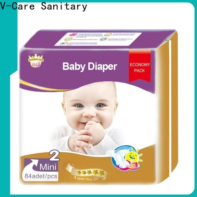 V-Care superior quality disposable baby diapers factory for infant