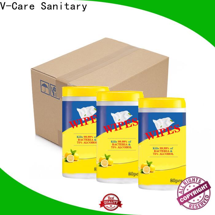 V-Care wet tissue wipes supply for men