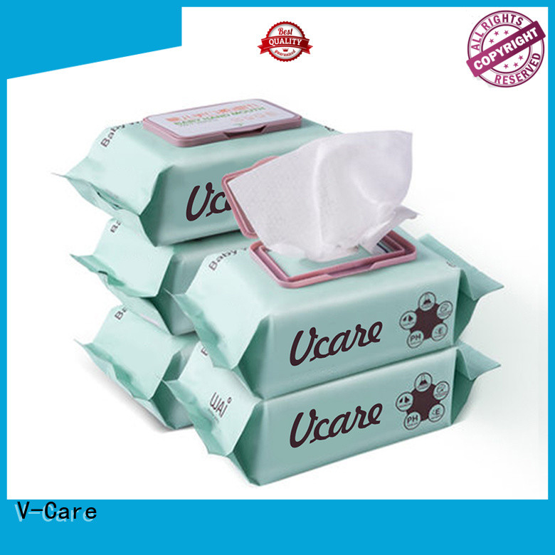 V-Care alcohol free bulk wet wipes company for adult