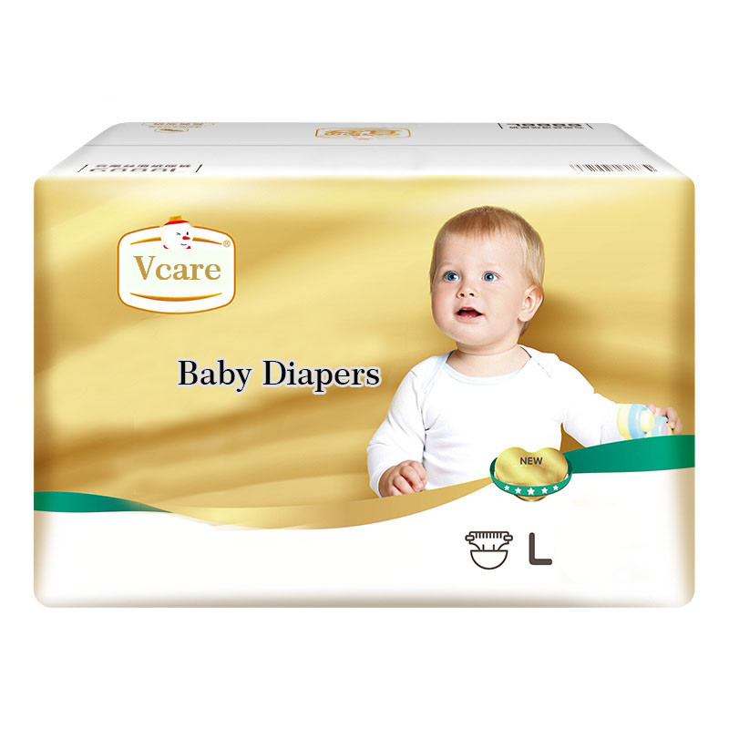Eco Friendly Bamboo Fiber Infant Absorbing Magic Tape Baby Diapers Pants