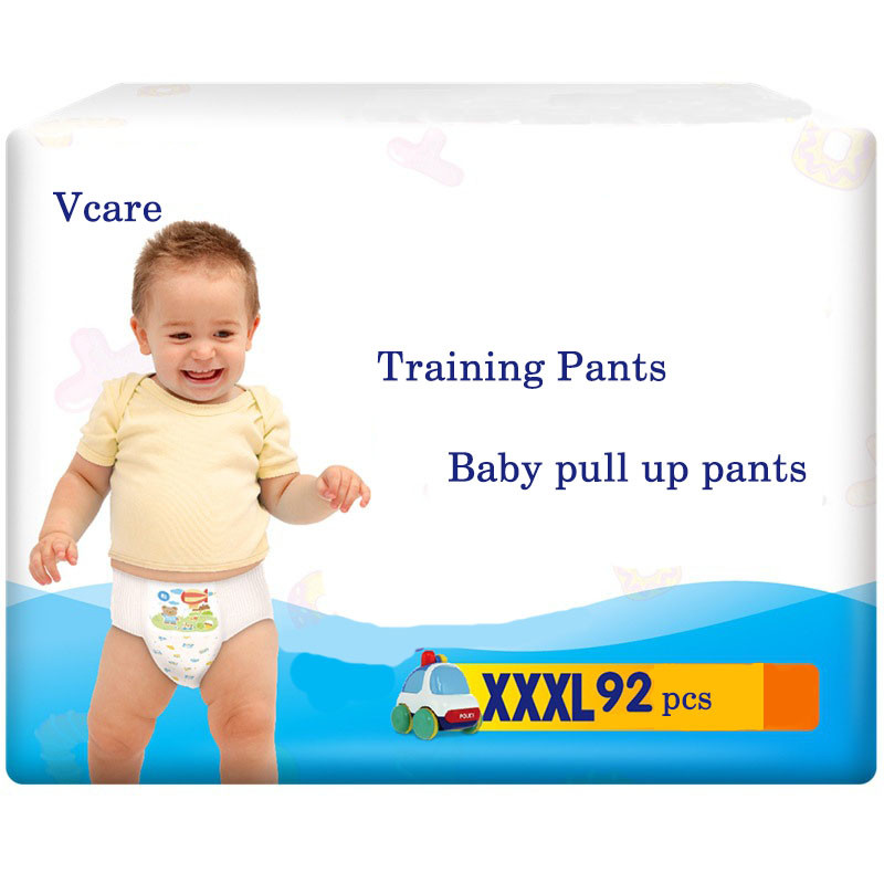 High Quality Factory Absorbency Training Pants Baby Diapers Nappies Pull Up Pants