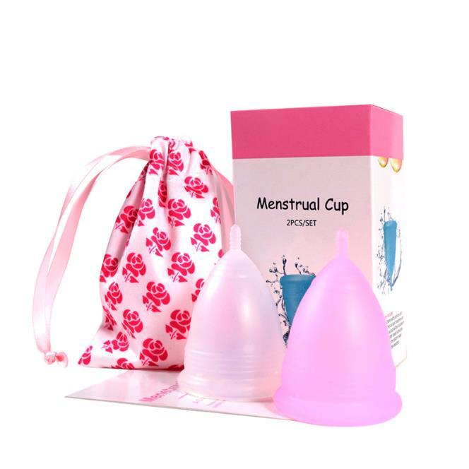 Wholesale CE Reusable Medical Grade Silicone Menstrual Cup Female Foldable Menstrual Cup
