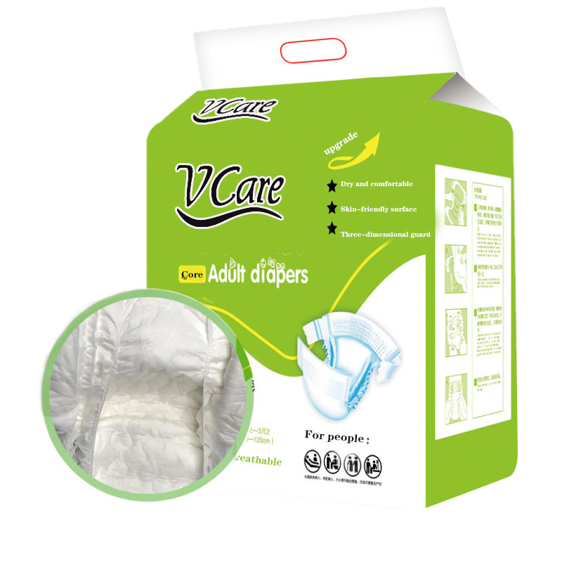 Custom Made Super Thick Dry Surface Adult Cotton Diapers, Own Factory Supply Printed Adult Abdl