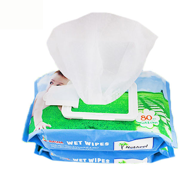 OEM Non Woven Spunlace With 80PcsWet Baby Wipes, Bamboo Baby Wipes Biodegradable
