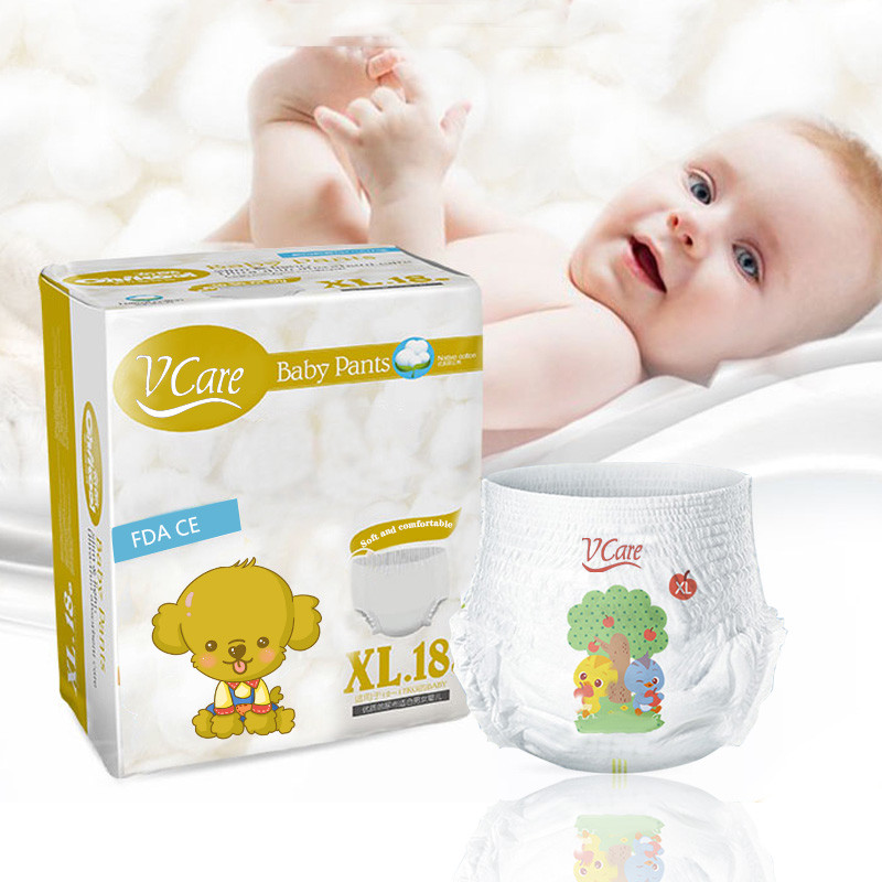 OEM Disposable Baby Diapers Pure Cotton Breathable Baby Diapers, A Grade Diaper Pants