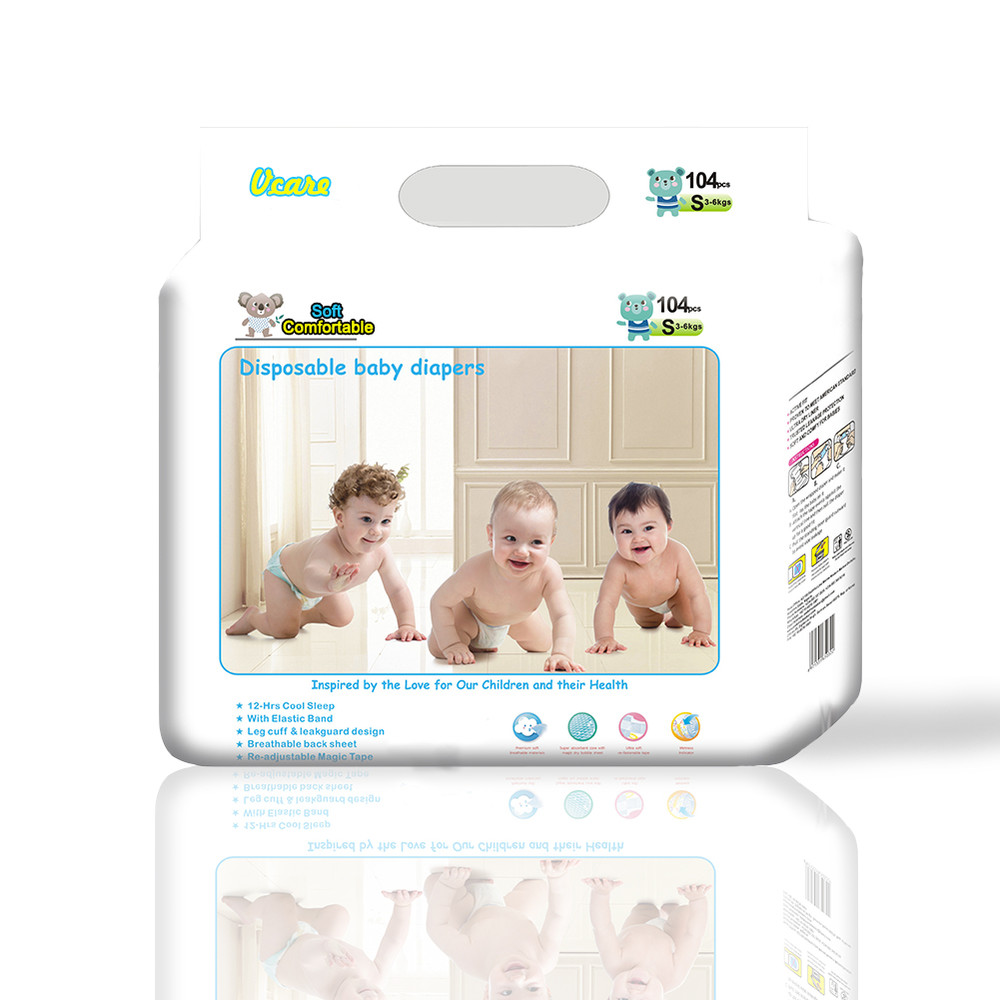 Biodegradable Bamboo Disposable Baby Diapernappies Manufacturers, Baby Diapers 80Pcs