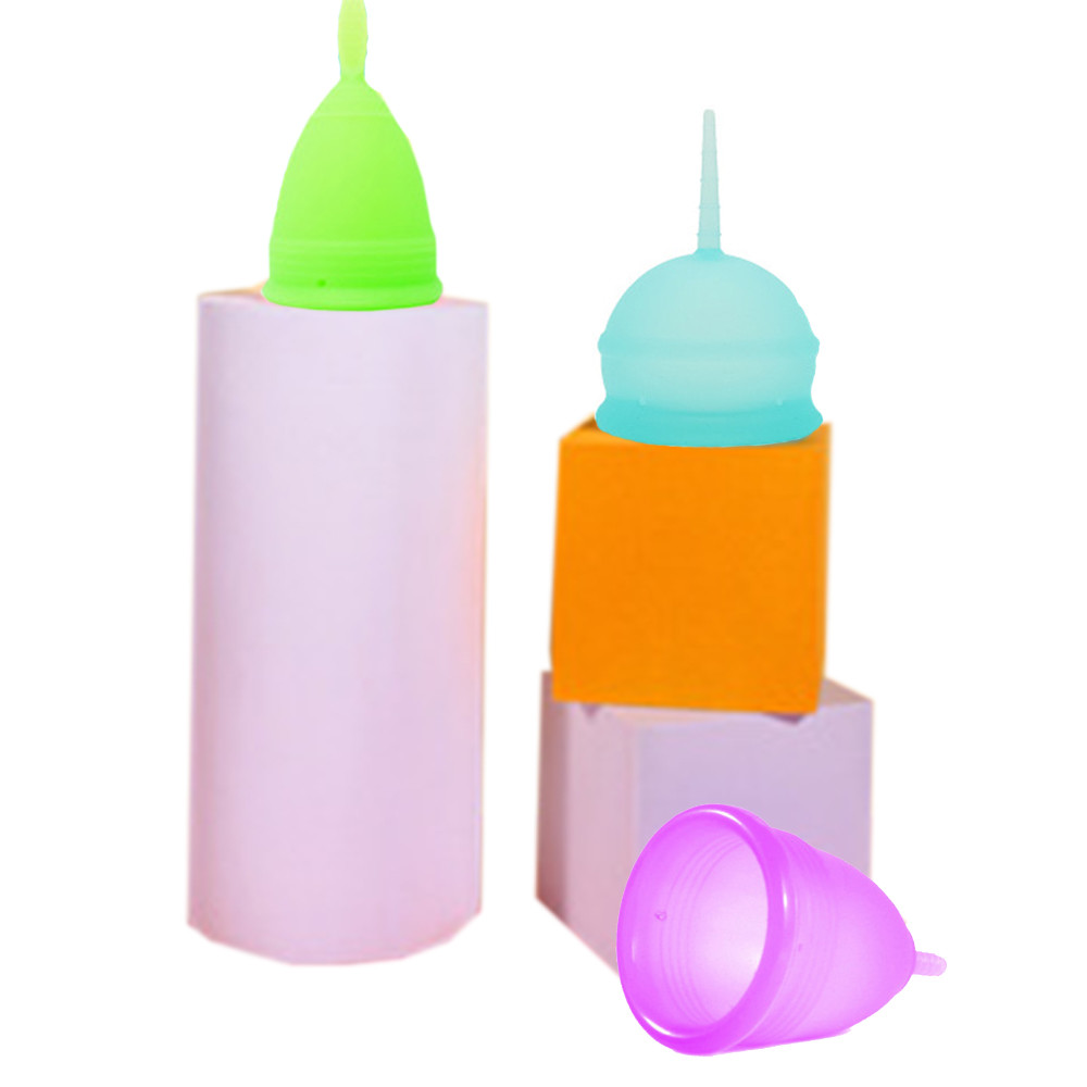 Custom Medical Grade A Lady Feminine Period Organic Multi Color Reusable Silicone Menstrual Cup