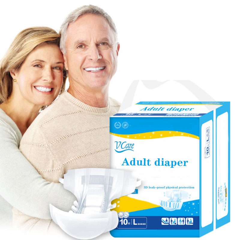 Disposable Senior Adult Diapers From Chinese Manufacturer Adult Incontinence Diaper L/XL size 10 Count