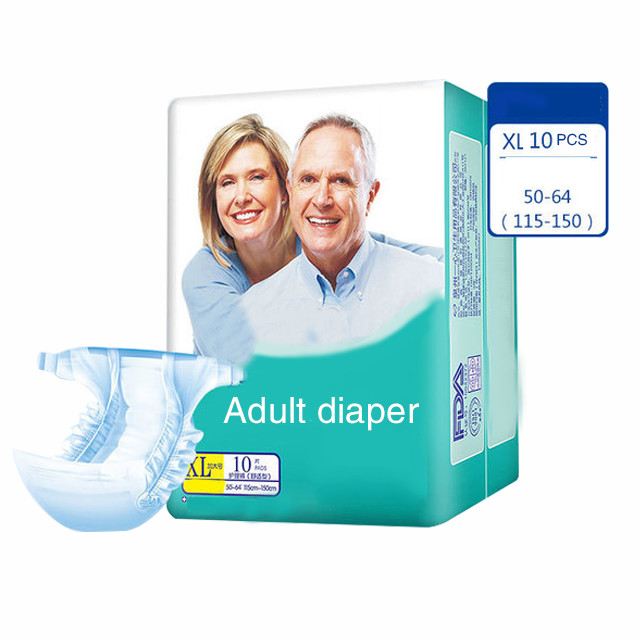 Factory Wholesale Adult Diapers with Prints, Adult Baby Boy Diapers Free Sample Disposable Diapers Non Woven Fabric Magic Tape