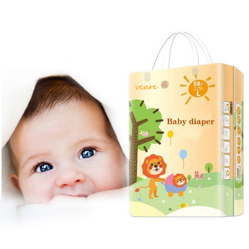 Non Woven Fabric Disposable Printed Magic Tape Baby Diapers