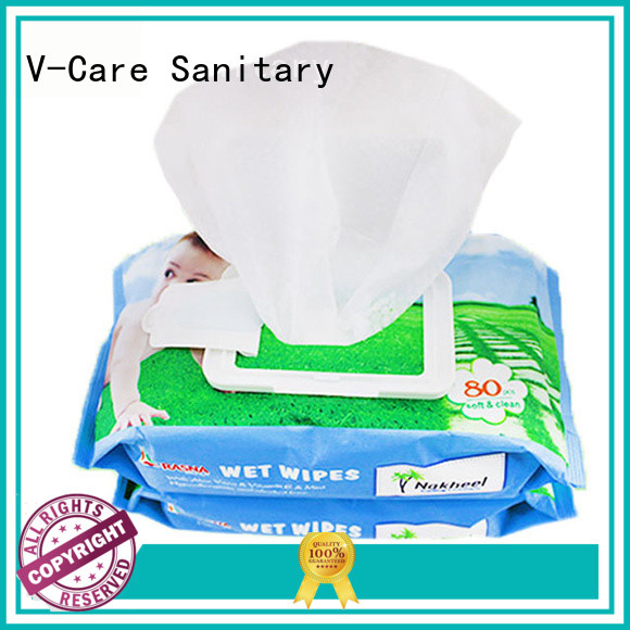 V-Care alcohol free best wet wipes manufacturers for adult