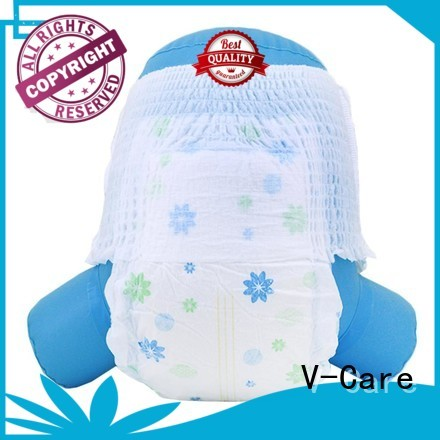V-Care breathable disposable baby diapers company for sleeping